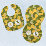 Rubber Duckie Camo Baby Bib & Burp Set w/ Multiple Names