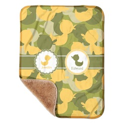 "Rubber Duckie Camo Sherpa Baby Blanket 30"" x 40"" (Personalized)"