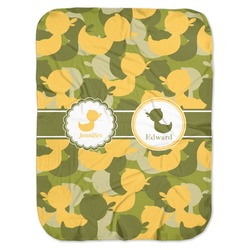 Rubber Duckie Camo Baby Swaddling Blanket (Personalized)