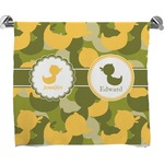 Rubber Duckie Camo Full Print Bath Towel (Personalized)