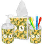 Rubber Duckie Camo Bathroom Accessories Set (Personalized)