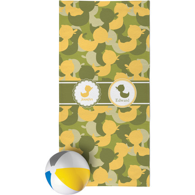 Rubber Duckie Camo Beach Towel (Personalized)