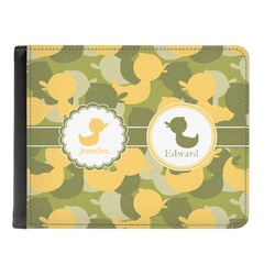 Rubber Duckie Camo Genuine Leather Men's Bi-fold Wallet (Personalized)