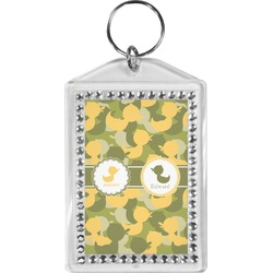 Rubber Duckie Camo Bling Keychain (Personalized)