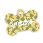 Rubber Duckie Camo Bone Shaped Dog Tag (Personalized)
