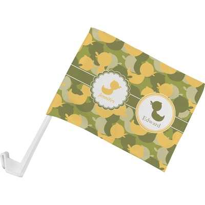 Rubber Duckie Camo Car Flag - Small w/ Multiple Names