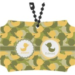 Rubber Duckie Camo Rear View Mirror Ornament (Personalized)