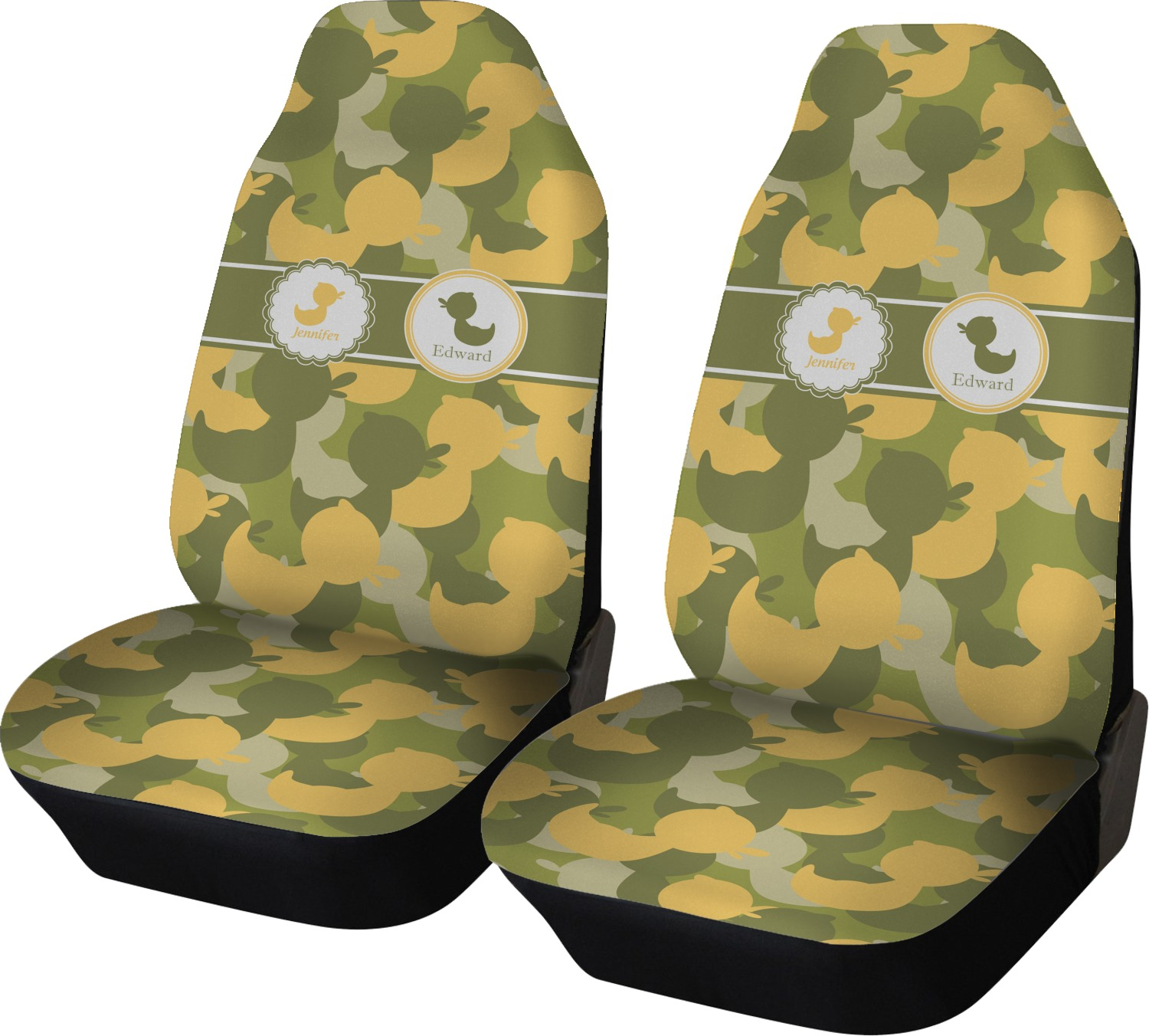 Rubber Duckie Camo Car Seat Covers Set Of Two Personalized