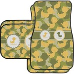 Rubber Duckie Camo Car Floor Mats Set - 2 Front & 2 Back (Personalized)