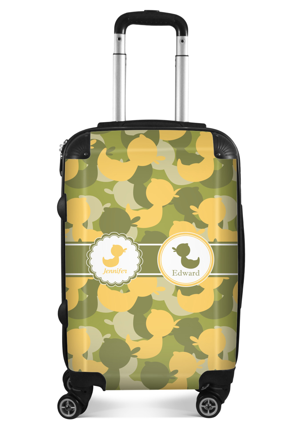 Checked Camo Suitcase Personalized 24Medium