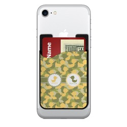 Rubber Duckie Camo 2-in-1 Cell Phone Credit Card Holder & Screen Cleaner (Personalized)