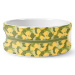Rubber Duckie Camo Ceramic Dog Bowl (Personalized)