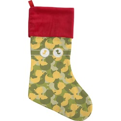 Rubber Duckie Camo Christmas Stocking (Personalized)