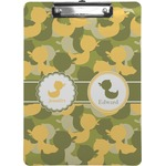 Rubber Duckie Camo Clipboard (Personalized)
