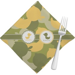 Rubber Duckie Camo Napkins (Set of 4) (Personalized)