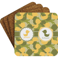 Rubber Duckie Camo Coaster Set (Personalized)