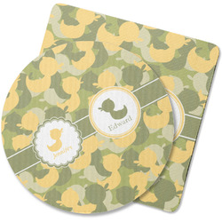 Rubber Duckie Camo Rubber Backed Coaster (Personalized)