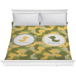 Rubber Duckie Camo Comforter - King (Personalized)