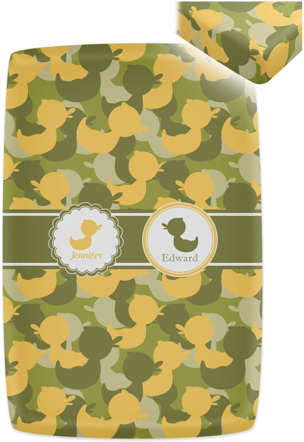 Rubber Duckie Camo Crib Fitted Sheet Personalized