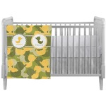Rubber Duckie Camo Crib Comforter / Quilt (Personalized)