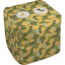 Rubber Duckie Camo Cube Pouf Ottoman (Personalized)