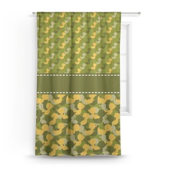 "Rubber Duckie Camo Curtain - 50""x84"" Panel (Personalized)"
