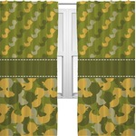 Rubber Duckie Camo Curtains (2 Panels Per Set) (Personalized)