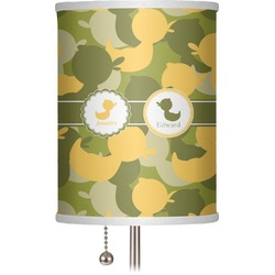 """Rubber Duckie Camo 7"""" Drum Lamp Shade (Personalized)"""