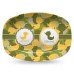 Rubber Duckie Camo Plastic Platter - Microwave & Oven Safe Composite Polymer (Personalized)