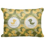 "Rubber Duckie Camo Decorative Baby Pillowcase - 16""x12"" (Personalized)"