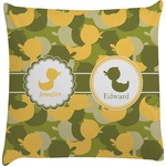 Rubber Duckie Camo Decorative Pillow Case (Personalized)