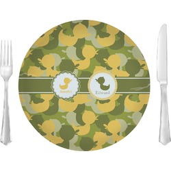Rubber Duckie Camo Glass Lunch / Dinner Plates 10