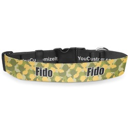 "Rubber Duckie Camo Deluxe Dog Collar - Large (13"" to 21"") (Personalized)"