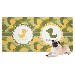 Rubber Duckie Camo Pet Towel (Personalized)