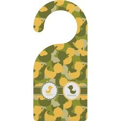 Rubber Duckie Camo Door Hanger (Personalized)
