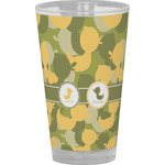 Rubber Duckie Camo Drinking / Pint Glass (Personalized)