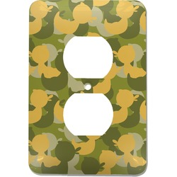 Rubber Duckie Camo Electric Outlet Plate (Personalized)