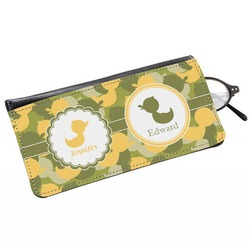 Rubber Duckie Camo Genuine Leather Eyeglass Case (Personalized)