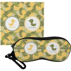 Rubber Duckie Camo Eyeglass Case & Cloth (Personalized)