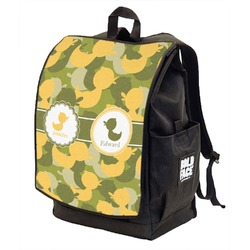 Rubber Duckie Camo Backpack w/ Front Flap  (Personalized)