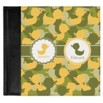 Rubber Duckie Camo Genuine Leather Baby Memory Book (Personalized)