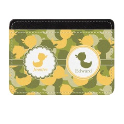 Rubber Duckie Camo Genuine Leather Front Pocket Wallet (Personalized)