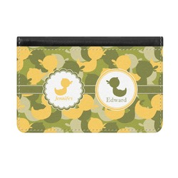 Rubber Duckie Camo Genuine Leather ID & Card Wallet - Slim Style (Personalized)