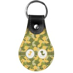 Rubber Duckie Camo Genuine Leather  Keychain (Personalized)