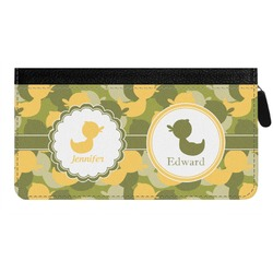 Rubber Duckie Camo Genuine Leather Ladies Zippered Wallet (Personalized)
