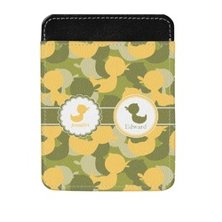 Rubber Duckie Camo Genuine Leather Money Clip (Personalized)
