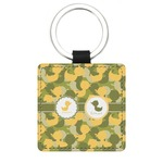 Rubber Duckie Camo Genuine Leather Rectangular Keychain (Personalized)