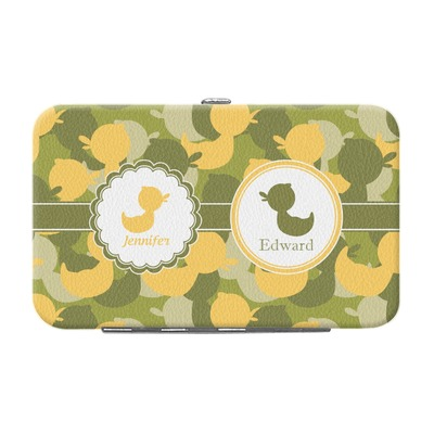 Rubber Duckie Camo Genuine Leather Small Framed Wallet (Personalized)