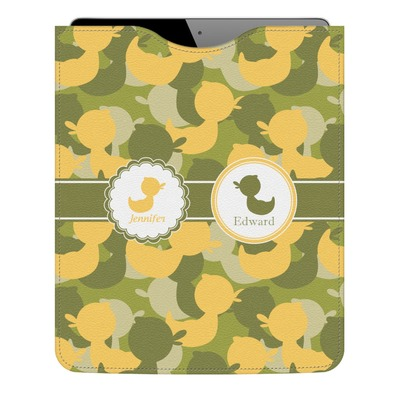 Rubber Duckie Camo Genuine Leather iPad Sleeve (Personalized)