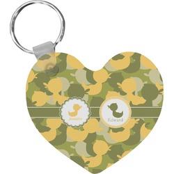Rubber Duckie Camo Heart Keychain (Personalized)